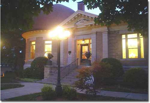 Greenville Public Library at Night